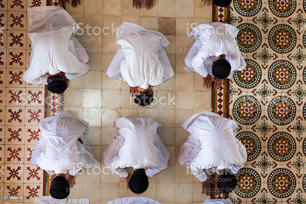 Caodai temple near Ho Chi Minh City, Vietnam stock photo
