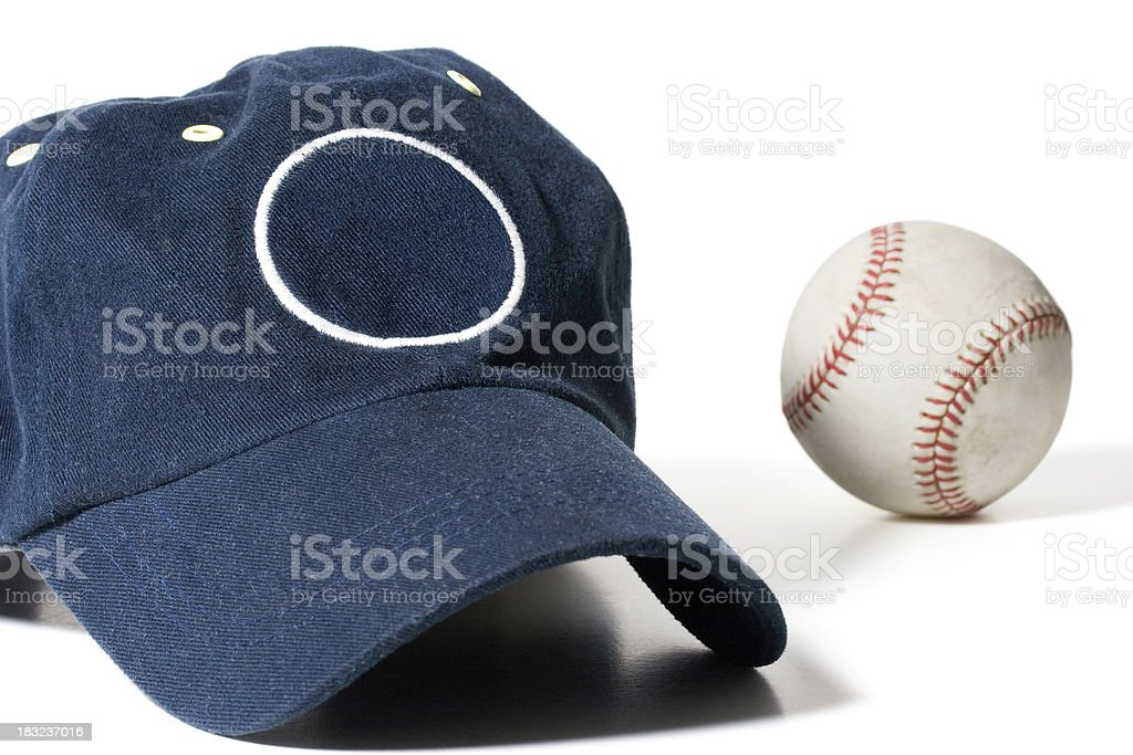 Cap and Baseball royalty-free stock photo