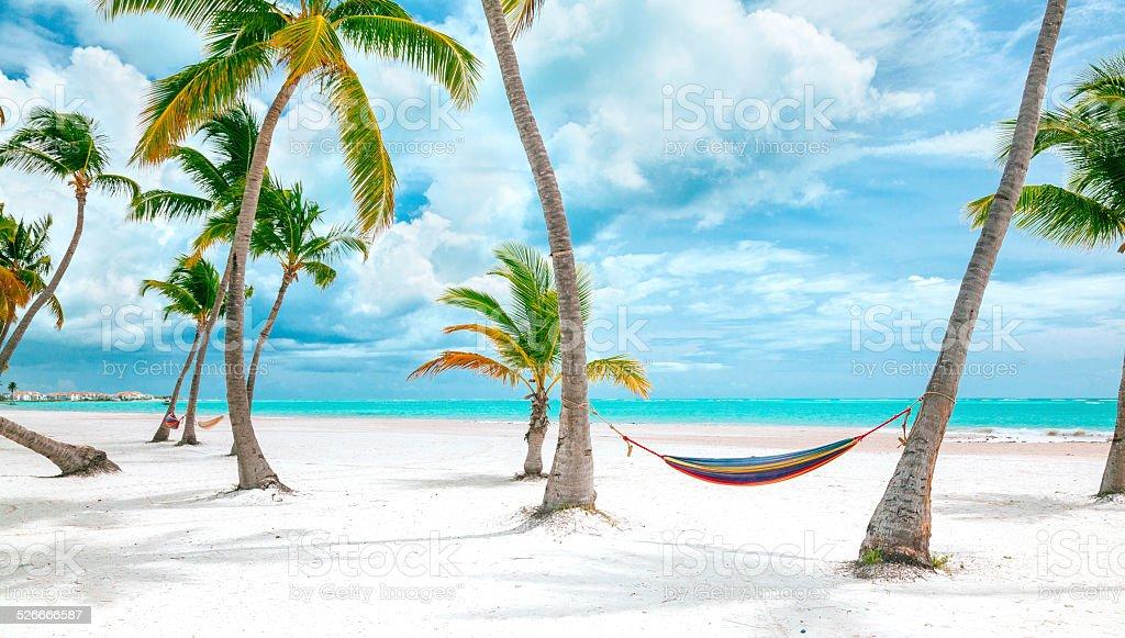 Cap Cana beach, Dominican republic stock photo