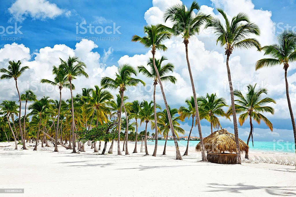 Cap Cana seacoast stock photo