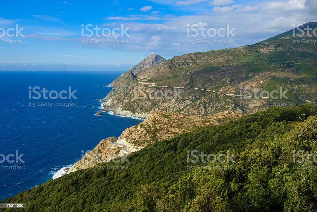 Cap Corse Landscape stock photo