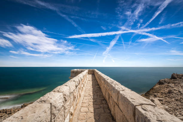 Cap d'antibes - Mer méditerranée stock photo