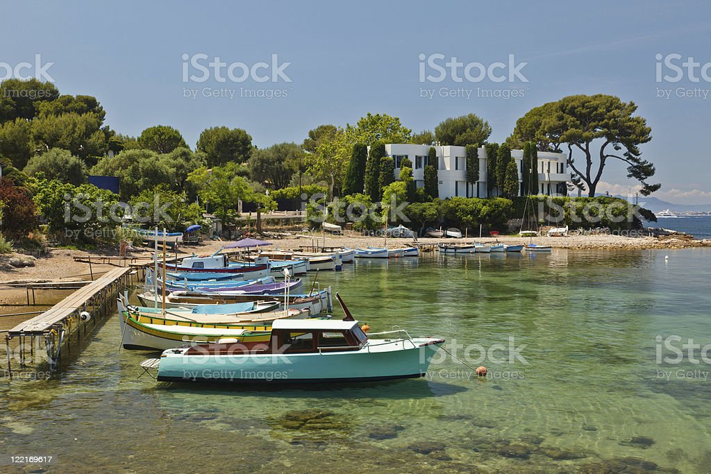 Cap d'Antibes stock photo