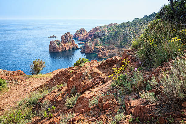 Cap du Dramont, French Riviera stock photo
