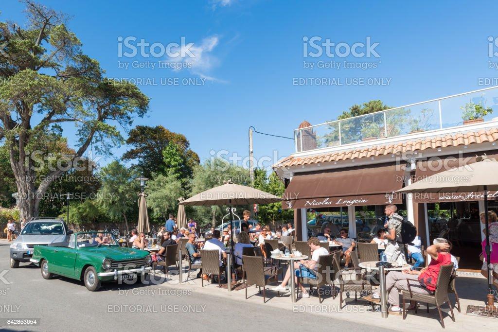 Cap Ferret Café Terraza Centro Foto De Stock Y Más Banco De