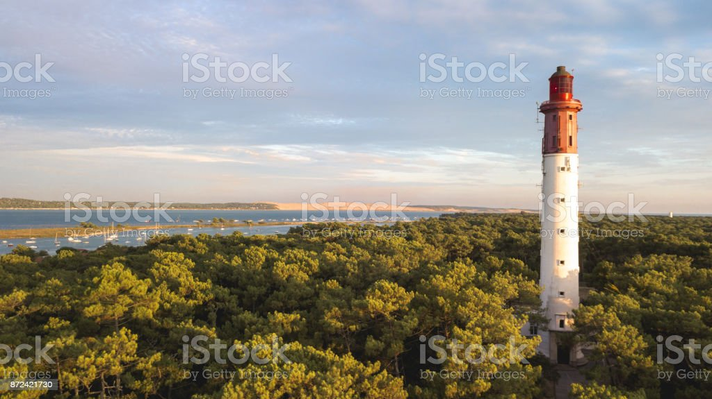 Cap Ferret Lighthouse royalty-free stock photo