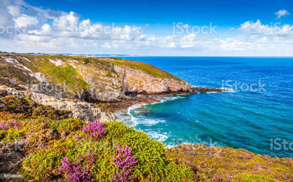 Cap Frehel Halbinsel, Bretagne, Frankreich – Foto