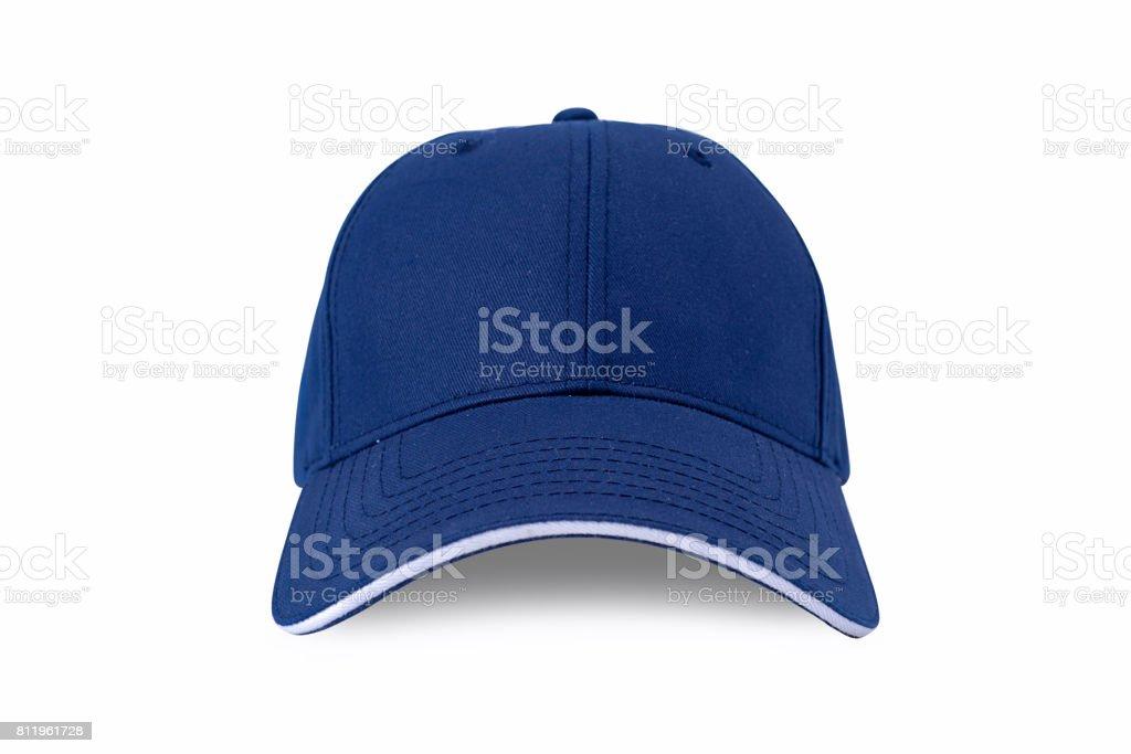 Cap isolated on white background. Baseball cap stock photo