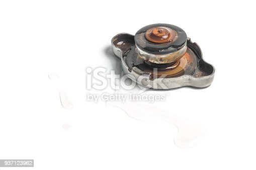 istock Cap of car radiator. 937123962