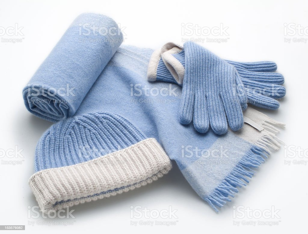 cap, scarf and gloves royalty-free stock photo