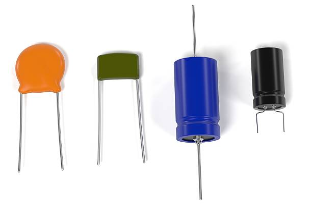 capacitor electronic parts - capacitor stock photos and pictures