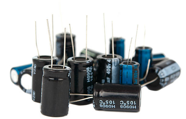 capacitors are isolated - capacitor stock photos and pictures