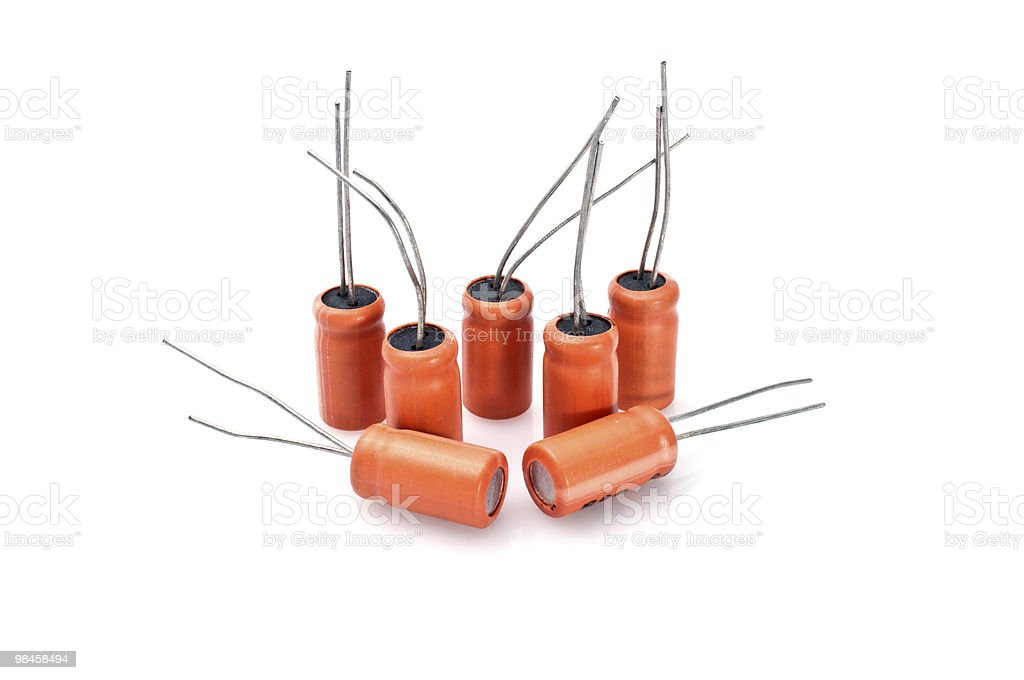 Capacitors royalty-free stock photo