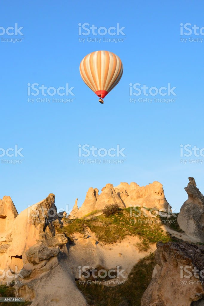 Capadocia en globo stock photo