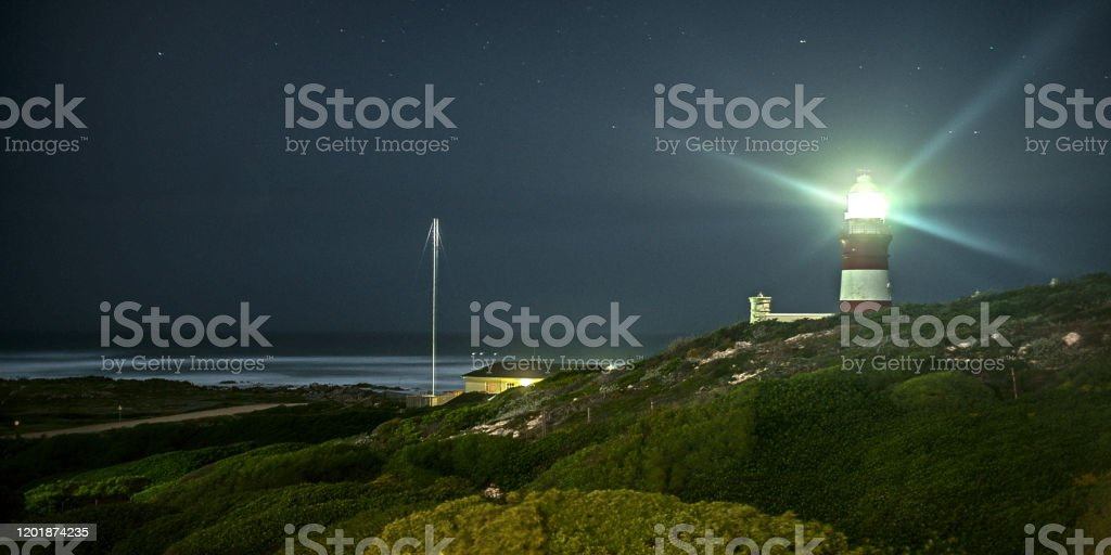 Cape agulhas Leuchtturm - Lizenzfrei Architektur Stock-Foto