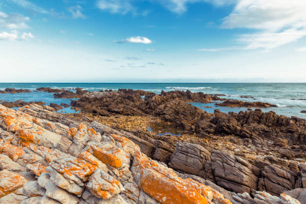 Cape Agulhas - southernmost point of Africa stock photo