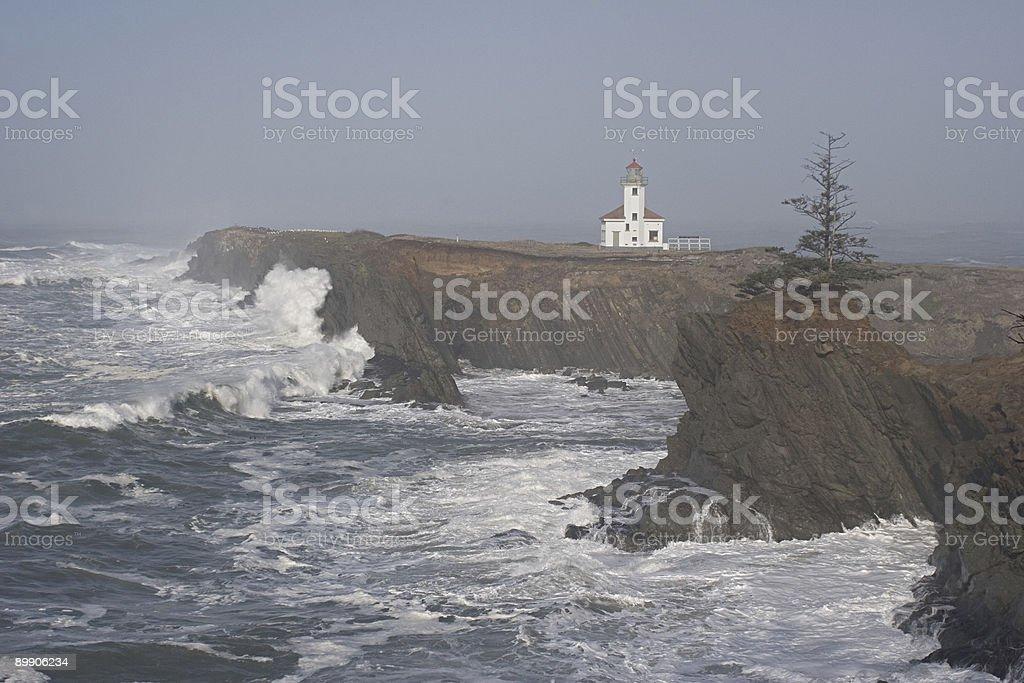 Faro di Cape Arago II foto stock royalty-free