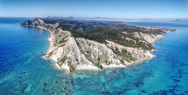 Cape Arkoudilas Corfu stock photo
