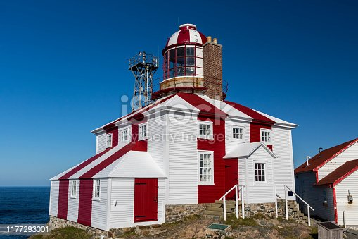 The historic Cape Bonavista Lighthouse in Newfoundland, Canada