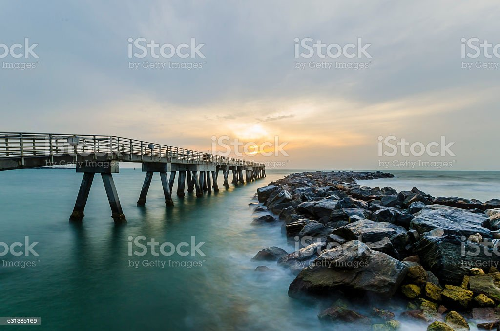 Cape Canaveral Jetty Park stock photo