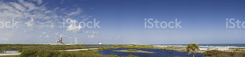 Cape Canaveral launch pad shore stock photo