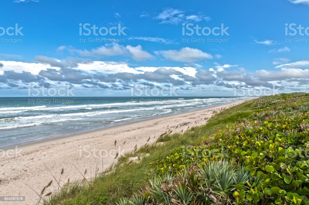 Cape Canaveral National Seashore Beach stock photo