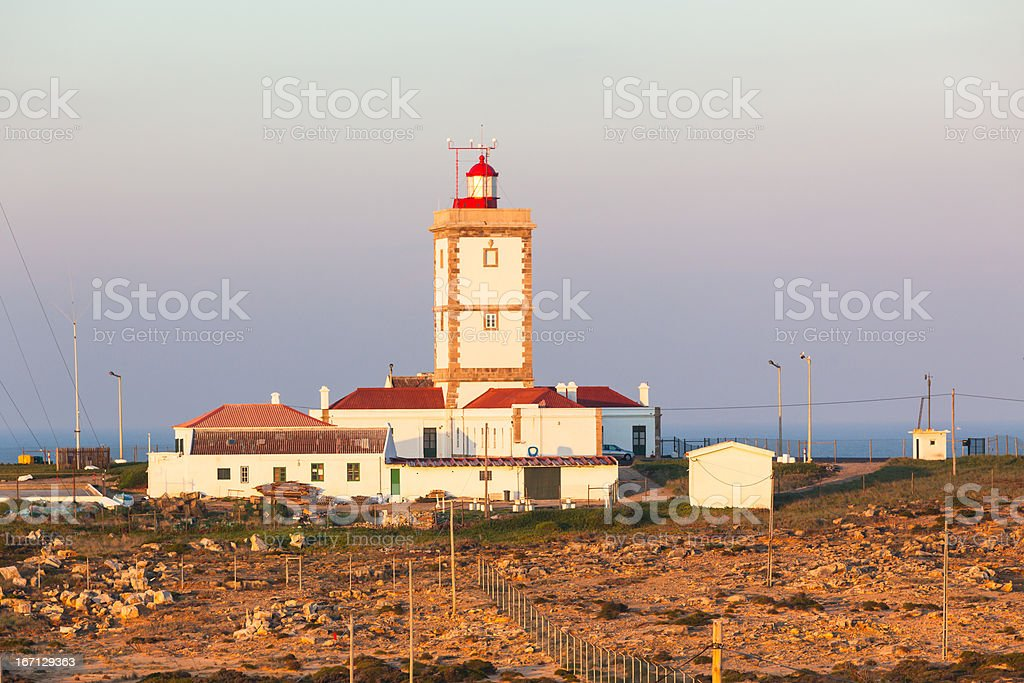 Cape Carvoeiro lighthouse in Peniche, Portugal royalty-free stock photo