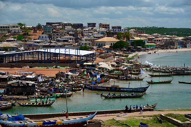 Cape Coast Ghana stock photo