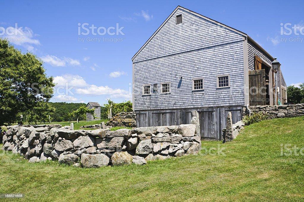 Cape Cod Barn stock photo