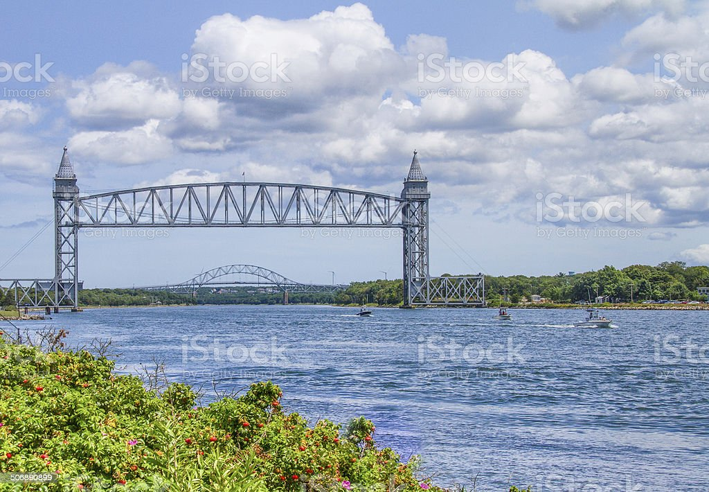 Cape Cod Canal stock photo