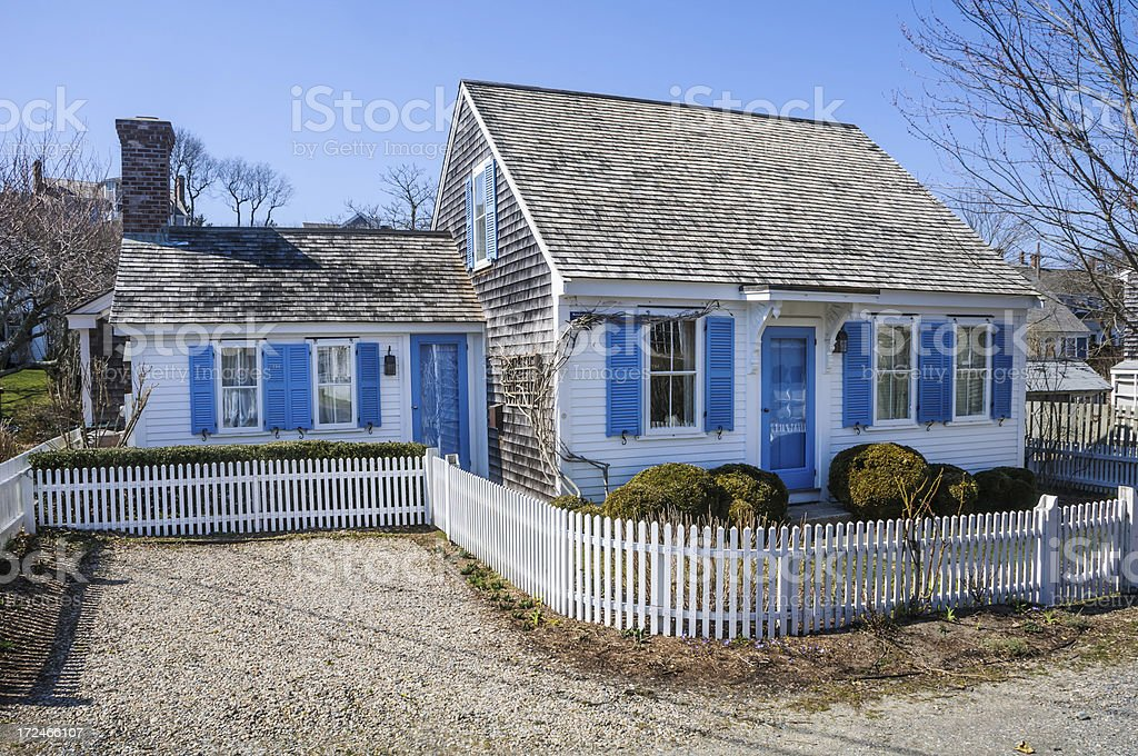 Cape Cod Cottege royalty-free stock photo