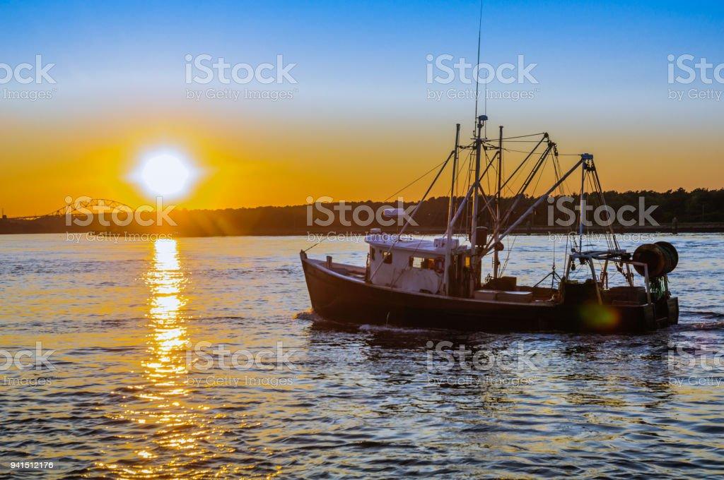 Noite de Cape Cod - foto de acervo