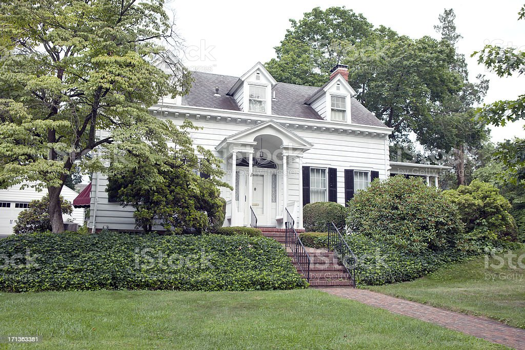 Cape Cod House in United States stock photo