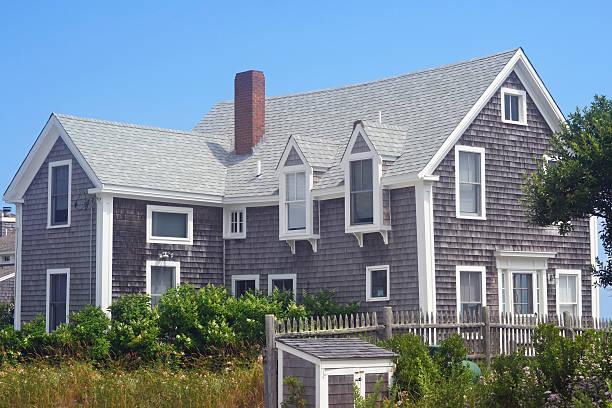 Cape Cod House stock photo