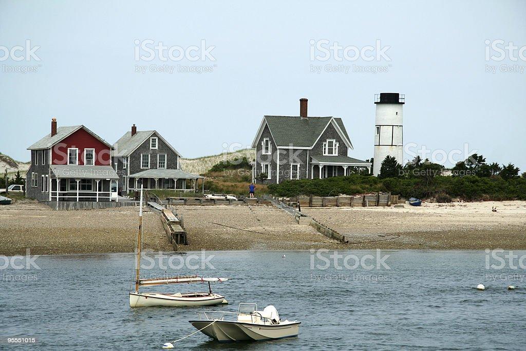 Cape Cod Houses stock photo