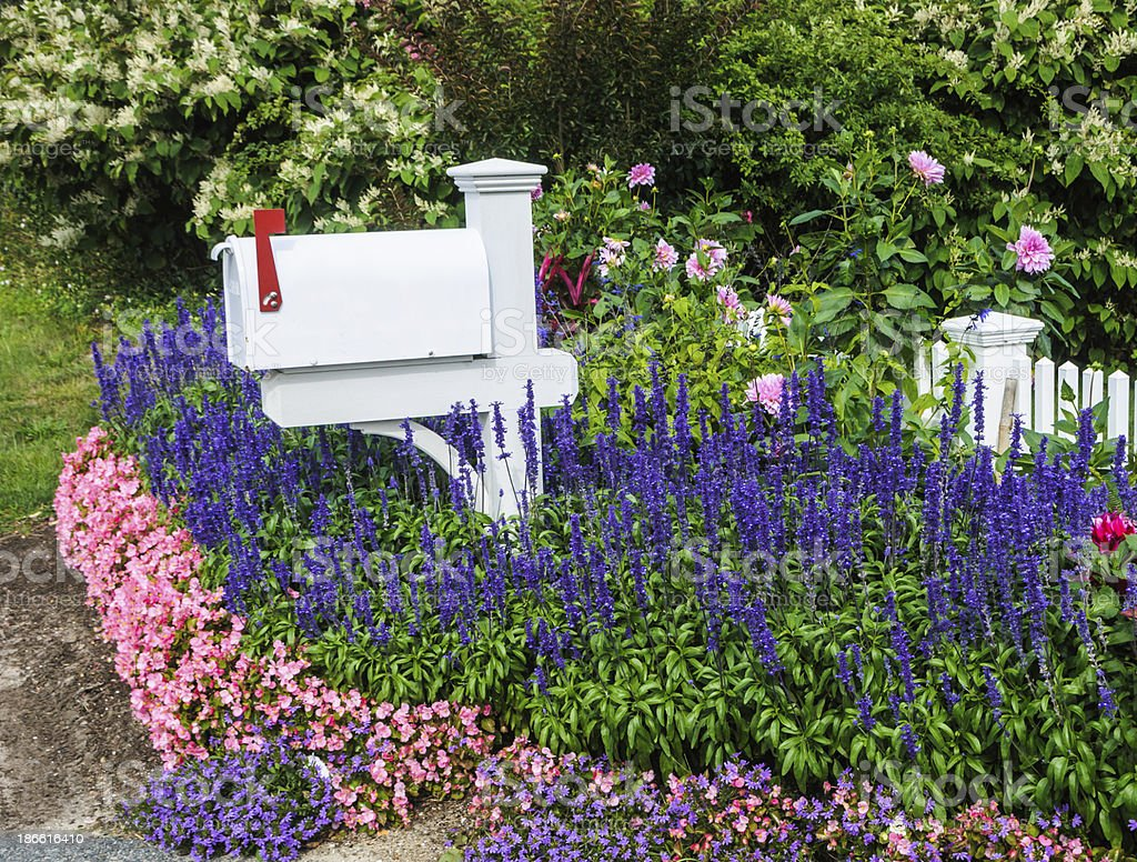 Cape Cod Mailbox Garden royalty-free stock photo