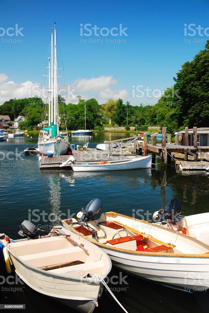 Cape Cod Marina stock photo