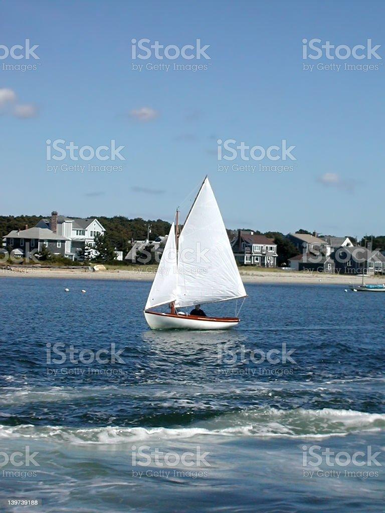 Cape Cod Sailboat royalty-free stock photo