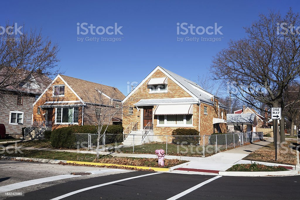 Cape Cod style house in Ashburn, Chicago royalty-free stock photo