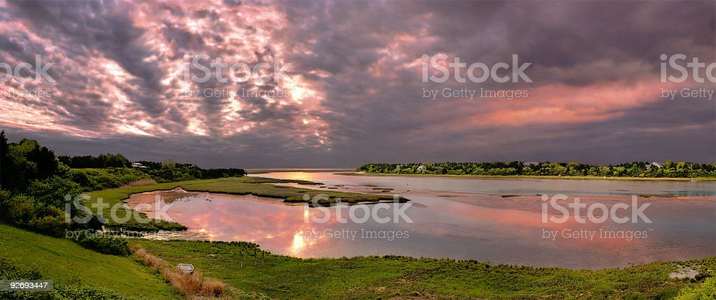 Cape Cod Sunrise stock photo