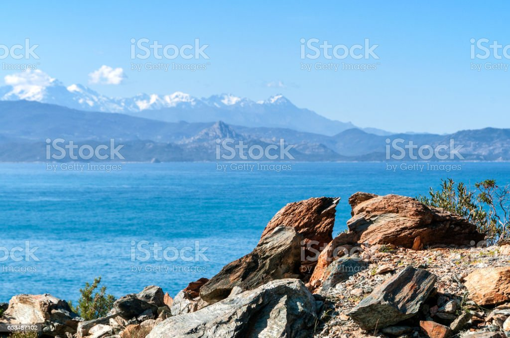 littoral du cap Corse stock photo