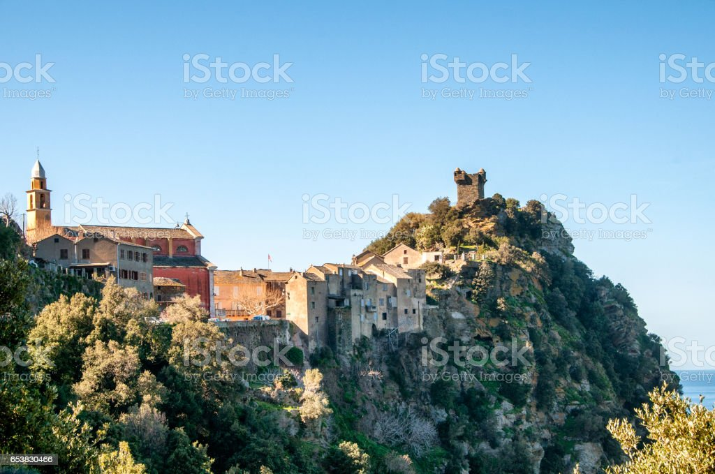 village du cap Corse stock photo