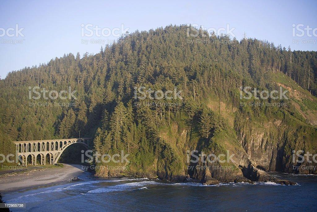 Cape Creek Bridge royalty-free stock photo