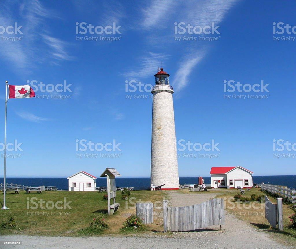 Faro de cabo des Rosiers-Gaspesie, Quebec foto de stock libre de derechos