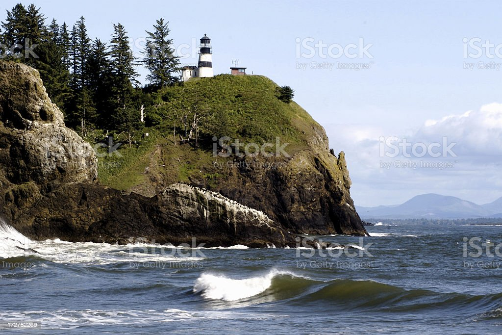 Cape Disappointment Lighthouse Columbia River stock photo