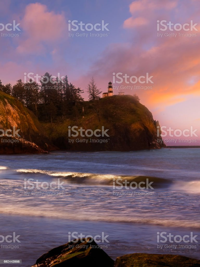 Cape Dissapointment Lighthouse stock photo