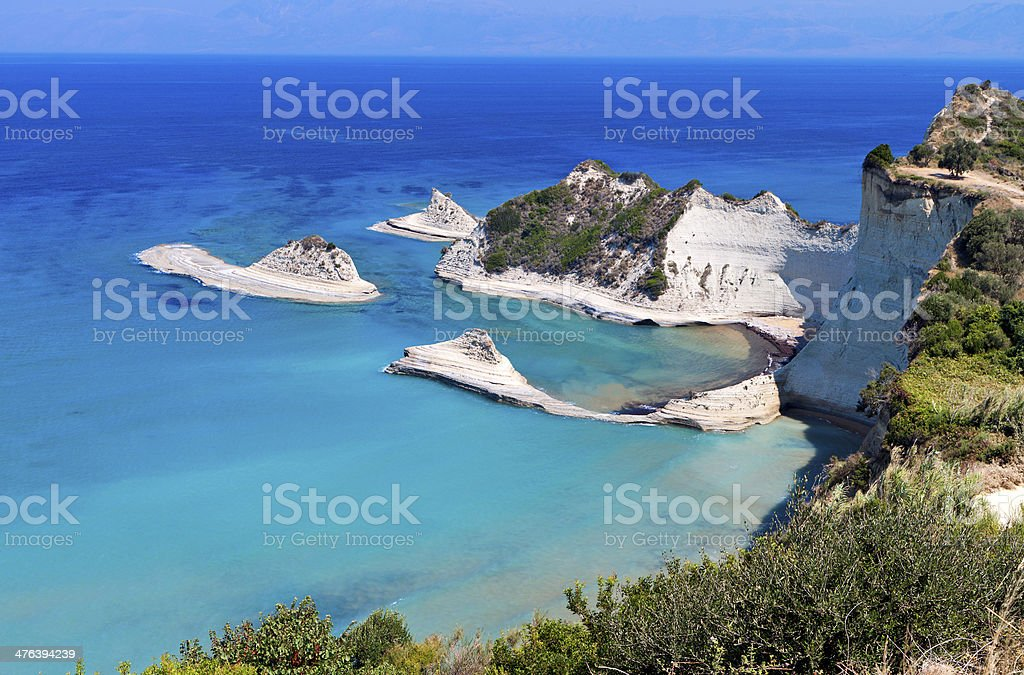 Cape Drastis at Corfu island in Greece stock photo