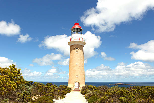 Cape Du Couedic Lighthouse on Kangaroo Island stock photo