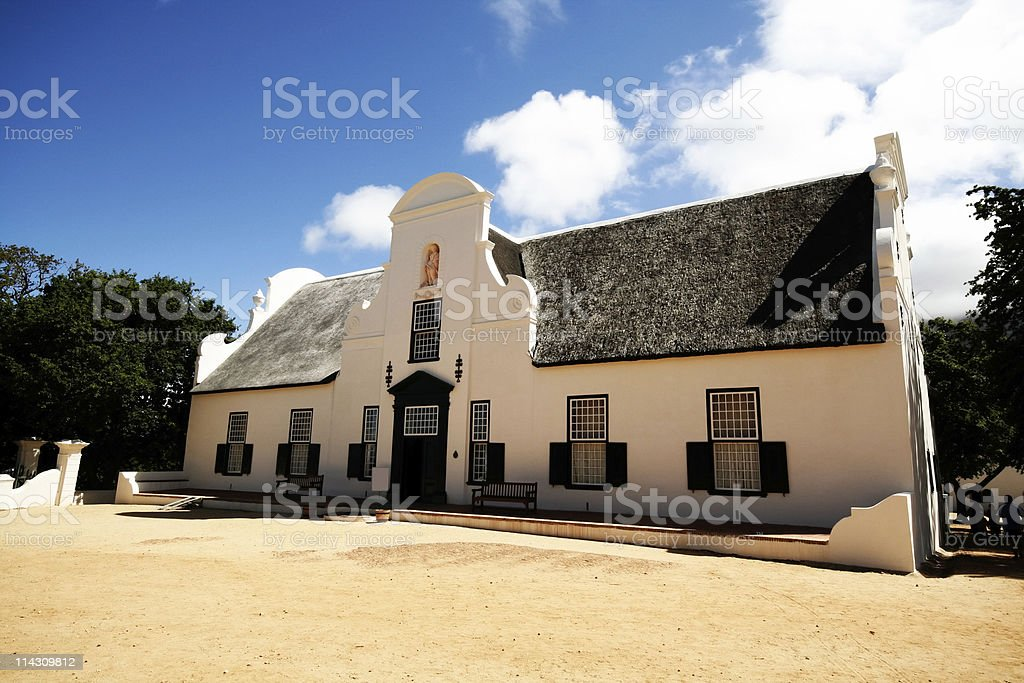 Cape Dutch manor house royalty-free stock photo