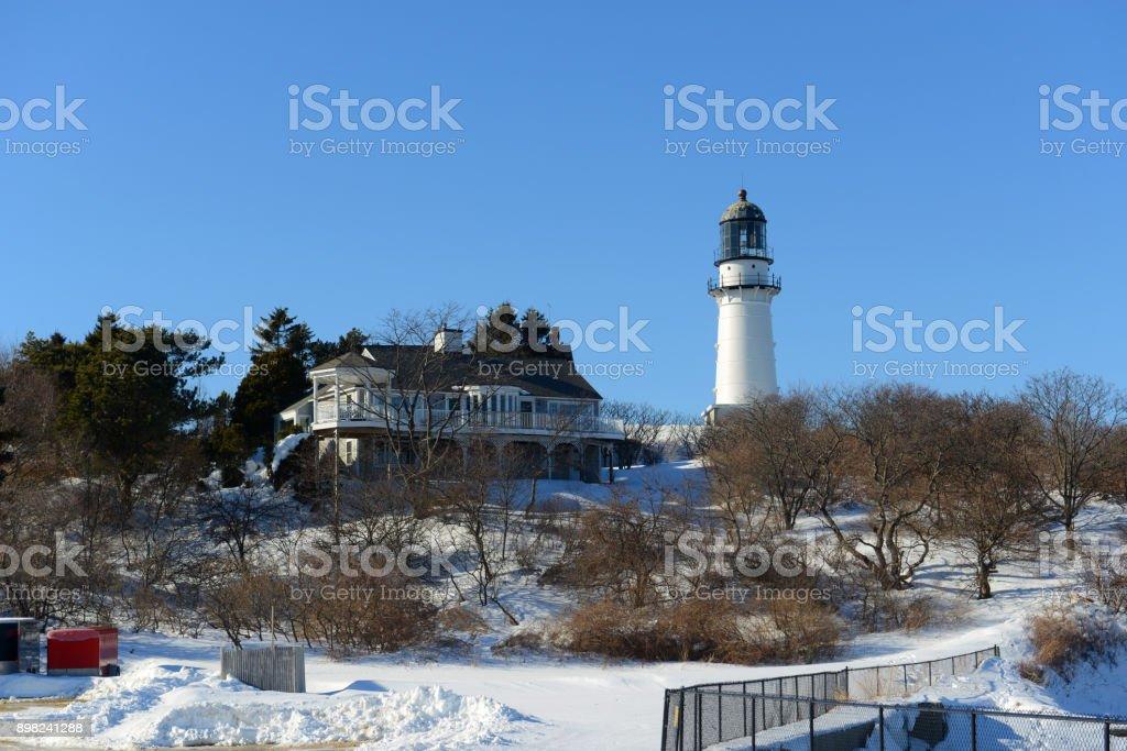 Cape Elizabeth Lighthouse, Maine, USA stock photo